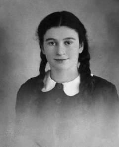 Gerda Weissmann at age fifteen