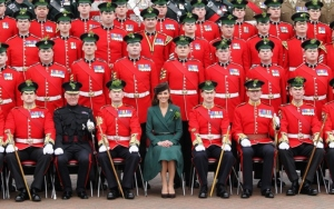 The Duchess of Cambridge visits the Irish Guards on their Saint Patrick's Day Parade 2014