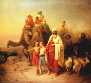 Abraham and His Family Leave Ur by Jozsef Molnar 1850