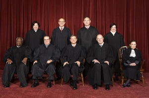 THE JUSTICES OF THE UNITED STATES SUPREME COURT Front row, from left: Clarence Thomas, Antonin Scalia, Chief Justice John G. Roberts,  Anthony Kennedy, Ruth Badger Ginsburg Back row, from left: Sonia Sotomayor, Stephen Breyer, Samuel Alito, Jr., Elena Kagen