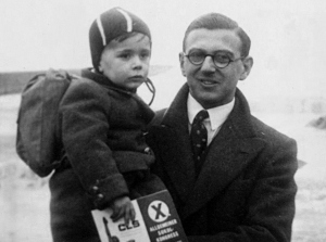 Nicholas Winton with one of the hundreds of Jewish Children whose lives he saved during World War II [Photo: Press Association, via Associated Press
