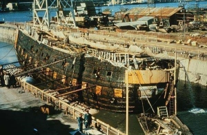 The salvaging of the Vasa in 1961