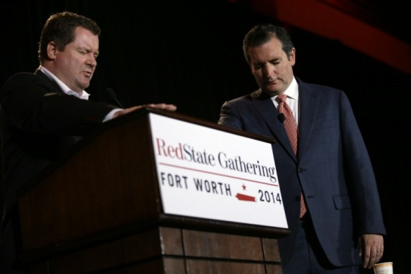 ted cruz prays with erick erickson